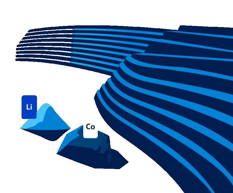 Billede af litium og kobolt