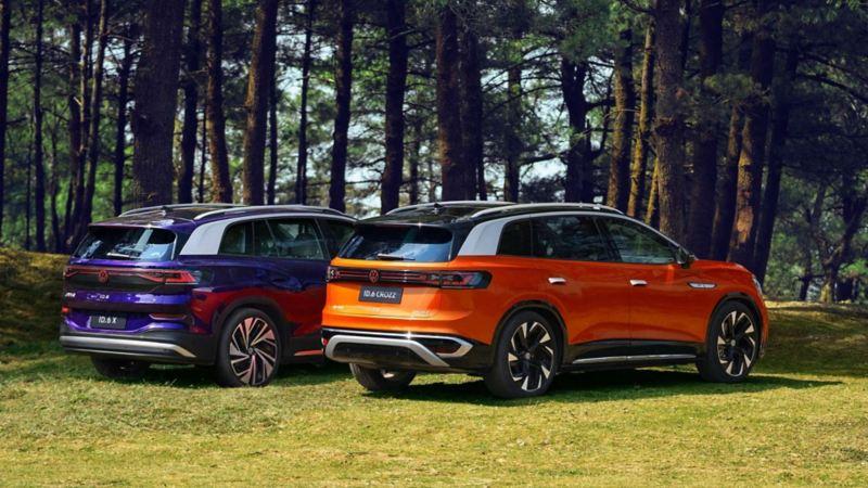 Imagen posterior de Volkswagen ID.6 camioneta suv eléctrica de venta en Asia
