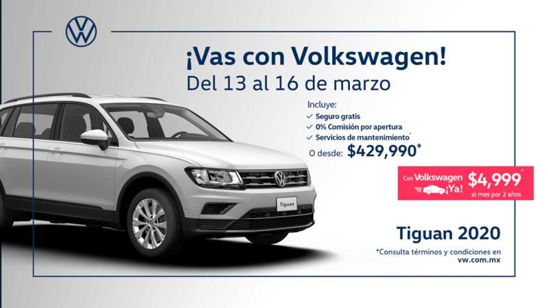 SUV Tiguan 2020 en promociones de marzo en camionetas y autos de Volkswagen