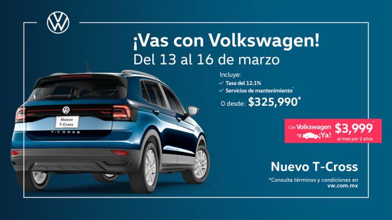 T-Cross, el SUV urbano a precio especial en promociones de Marzo de Volkswagen México