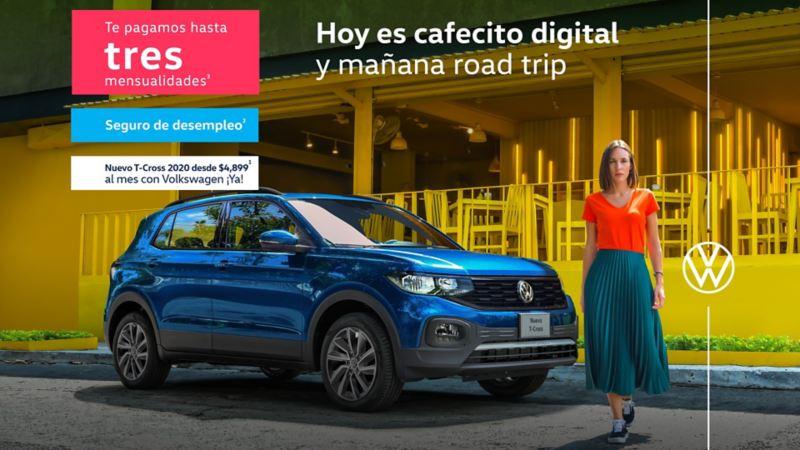 T-Cross 2020, a precio especial en promociones de autos Volkswagen que incluye seguro de desempleo
