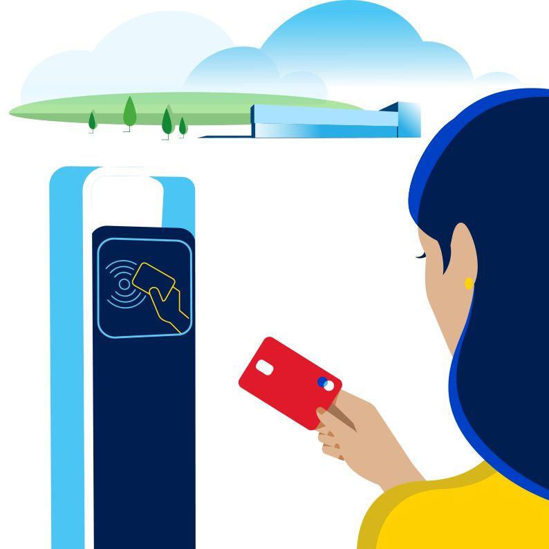 Laadpaal waar met een laadkaart betaald kan worden.
