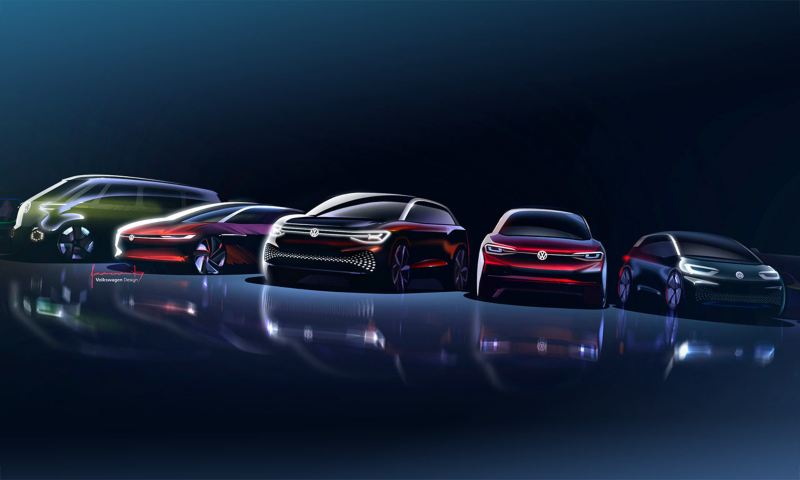 The Volkswagen ID. family (design sketches)