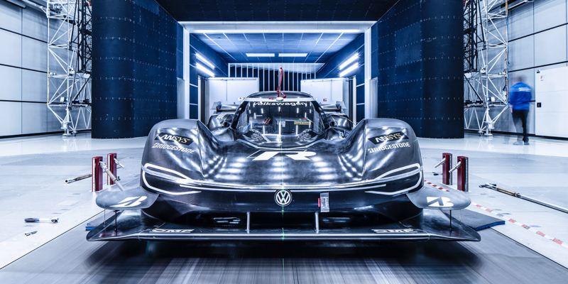 Volkswagen ID.R nella galleria del vento