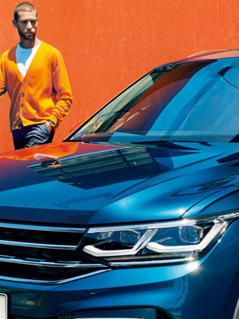 Volkswagen Tiguan with male