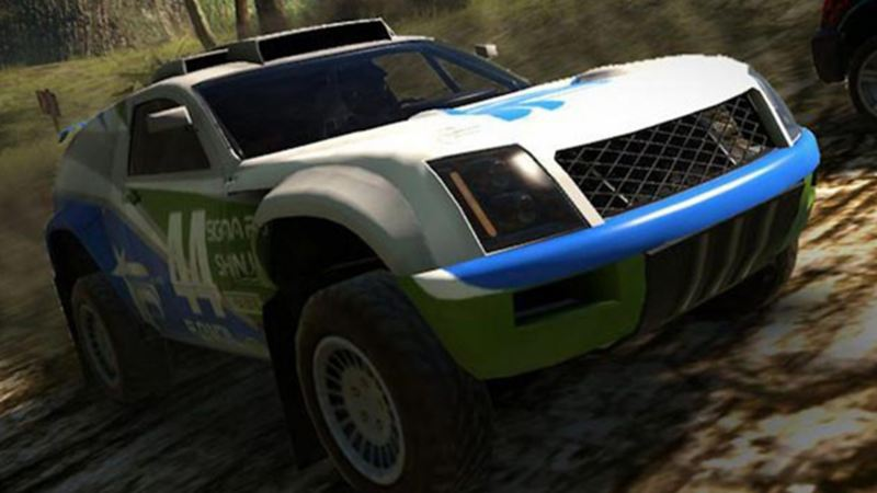 Camioneta Volkswagen Touareg dentro de videojuego MotorStorm