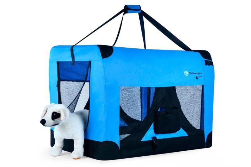 Transportador de mascotas Volkswagen disponible en la colección de accesorios Pets
