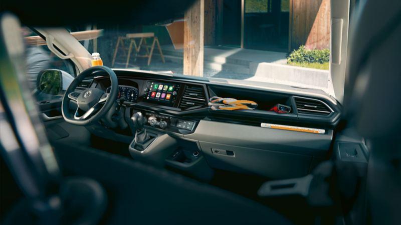 Transporter 6.1 single cab interior