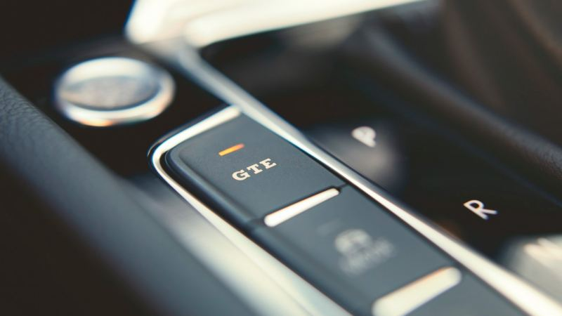 Botón de activación del modo de conducción GTE de un Volkswagen