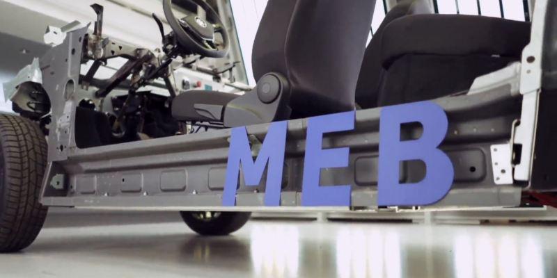 Detalle de la plataforma MEB de Volkswagen