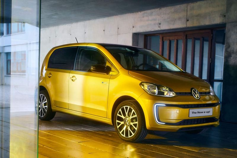 Rear view of a Volkswagen e-up!