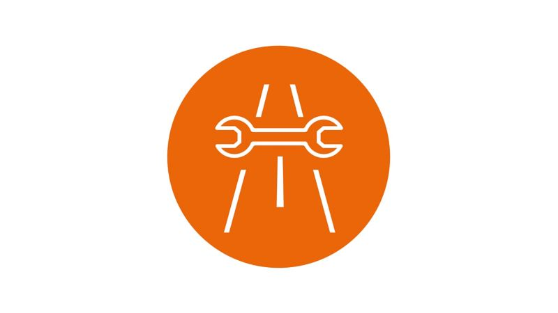 Roadside assistance spanner icon