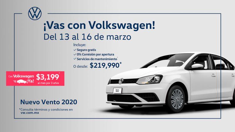 Vento 2020, el auto familiar dentro de las promociones de Volkswagen México