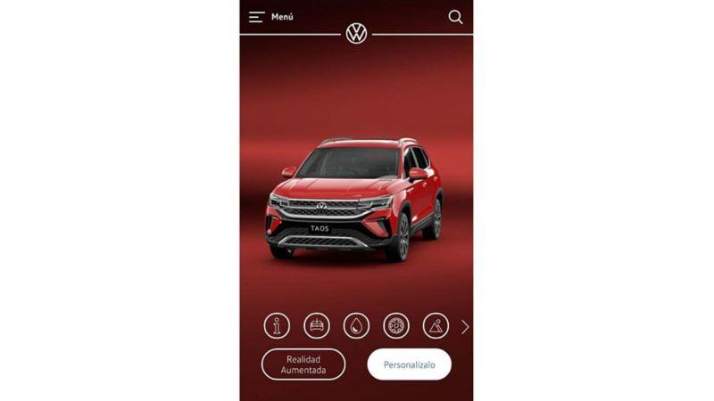 Imagen de Virtual Studio, aplicación de Volkswagen que visualiza camionetas.