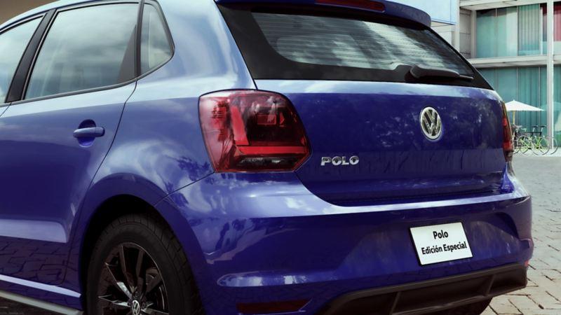 Vista trasera de Polo 2021 Edición Especial de VW México. Aparta en línea este auto compacto.