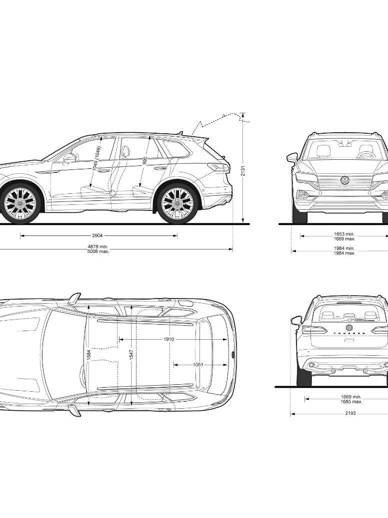 Volkswagen Touareg Dimensiones