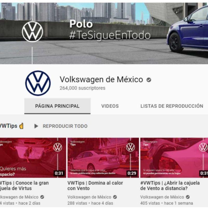 Imagen de del canal de YouTube de Volkswagen con contenido relevante sobre autos y camionetas