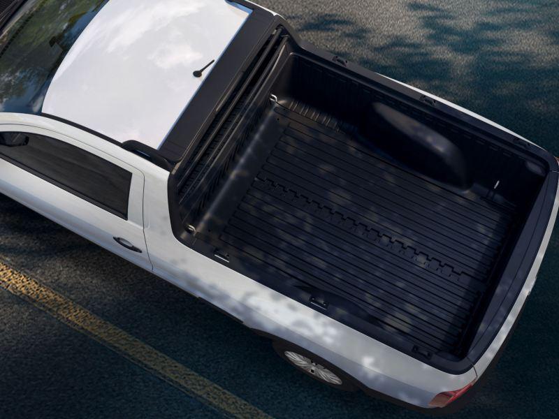 En el bedliner de tu Saveiro 2022 tienes espacio para transportar los objetos que necesites