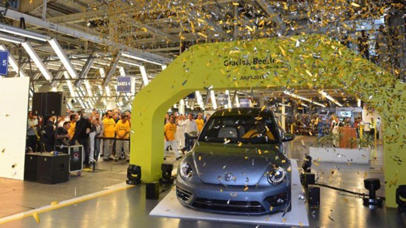 Despedida de Beetle Volkswagen, modelo de auto descontinuado