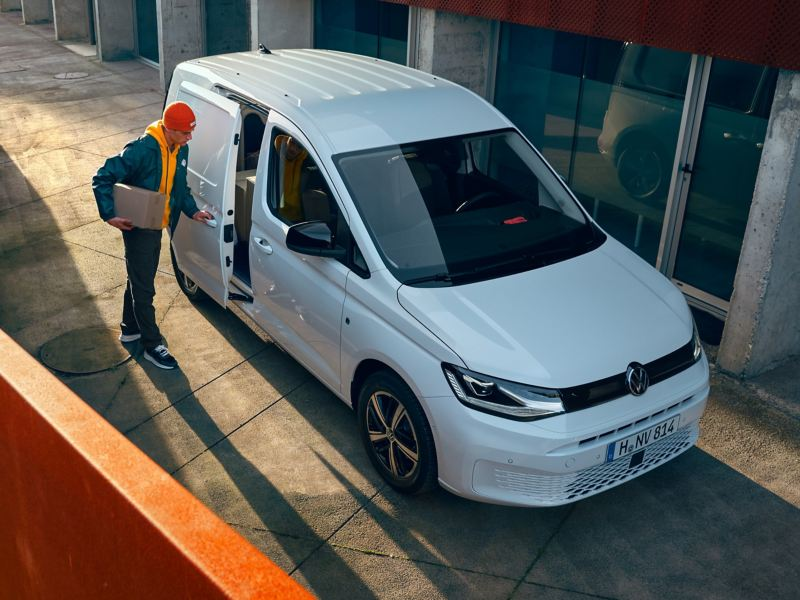 Le nouveau Volkswagen Caddy Cargo comme véhicule de transport