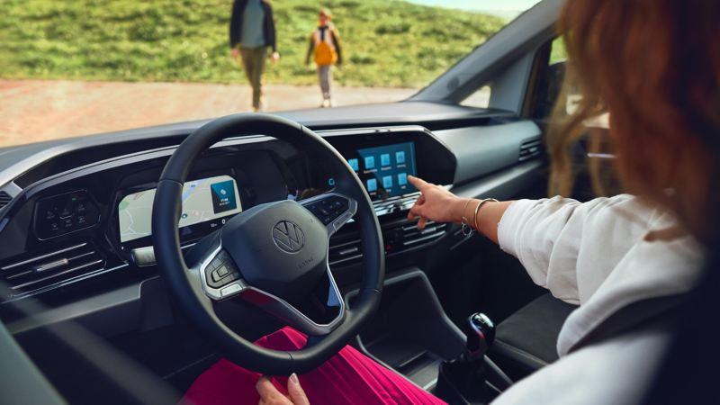 Le nouveau Volkswagen Caddy vu de l'intérieur.