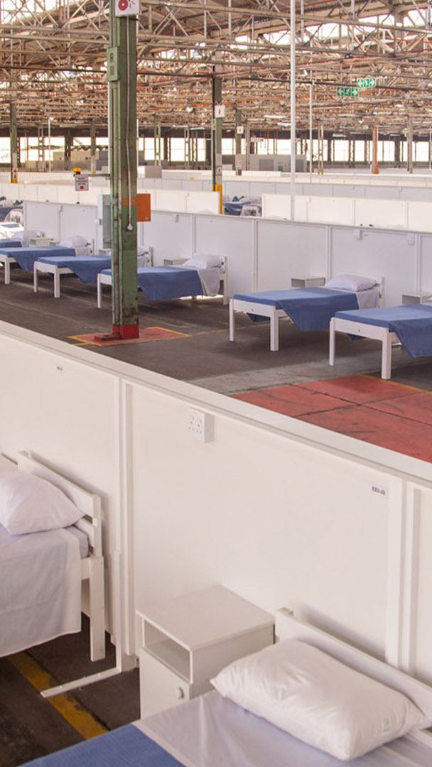 Volkswagen hands over first phase of Covid-19 temporary medical facility