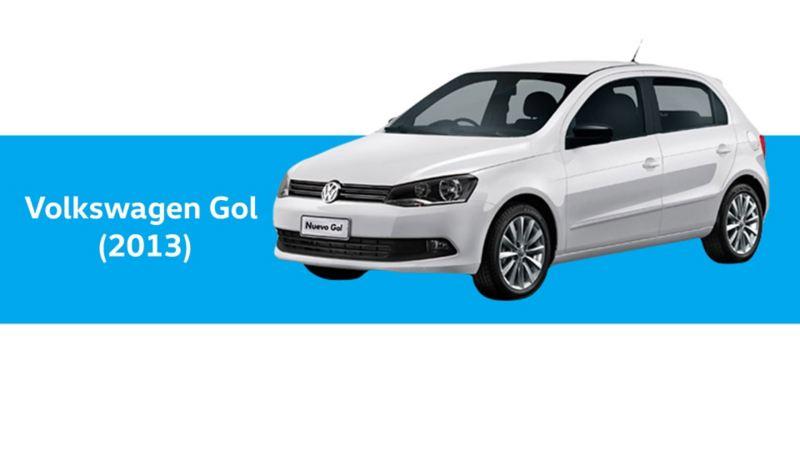 Volkswagen Gol año 2013, en color blanco
