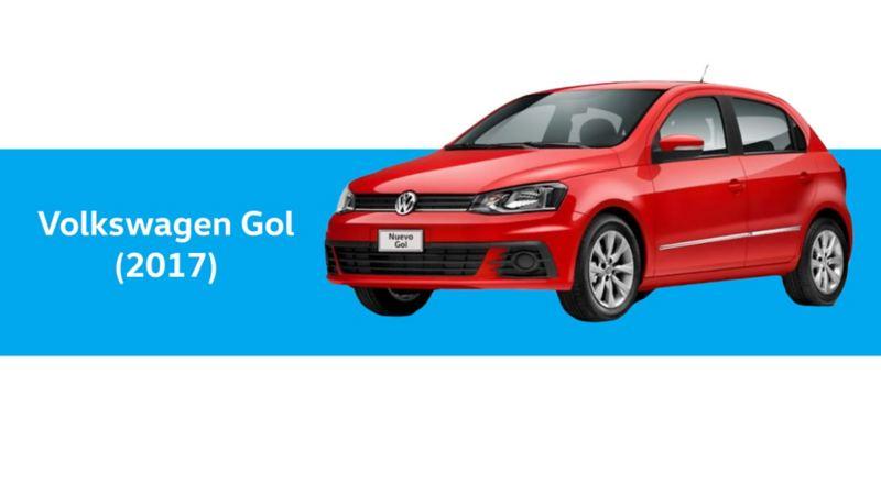 Volkswagen Gol del año 2017 en color rojo