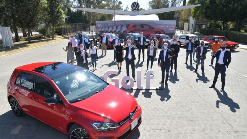 Despedida a Golf de la planta de VW en Puebla