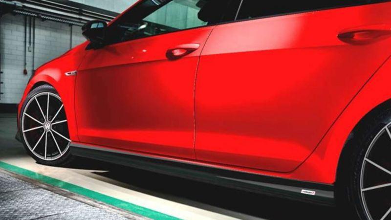 Imagen de Golf GTI oettinger, auto deportivo de Volkswagen en color rojo