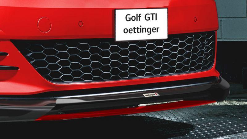 Spliter en spoiler frontal de Volkswagen Golf GTI oettinger 2021.