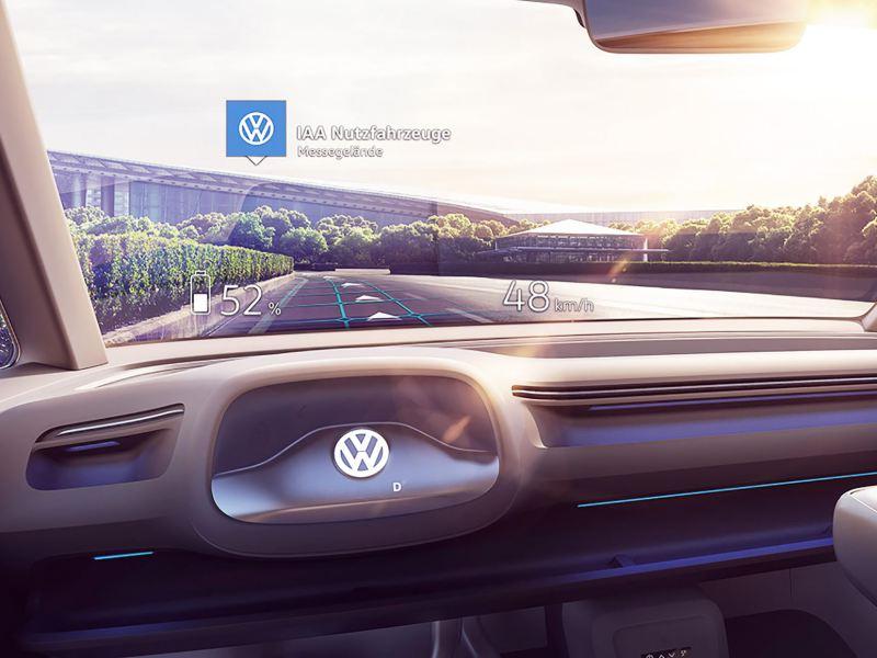 Förarplatsen i nya Volkswagen I.D. Buzz