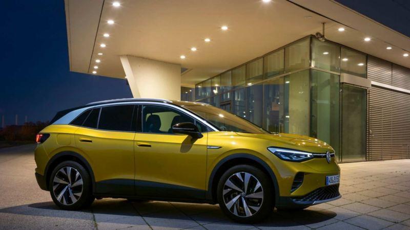 Imagen exterior de coche eléctrico Volkswagen, un paso más hacia el futuro de los autos.