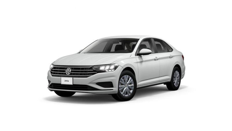 Imagen exterior de carro VW Jetta 2021 en color blanco