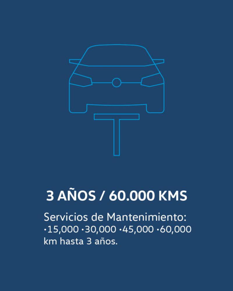 Condiciones del plan de Servicios de Mantenimiento Long Drive para automóviles Volkswagen