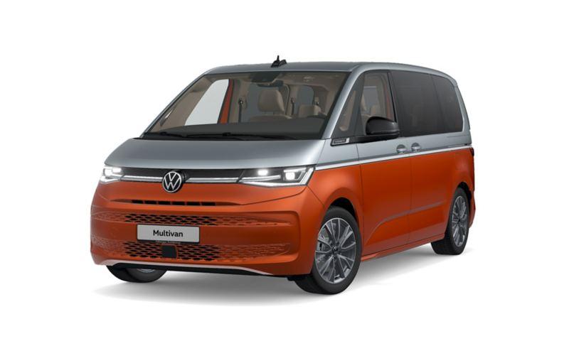 """Der VW Multivan """"Energetic"""" von schräg vorne."""