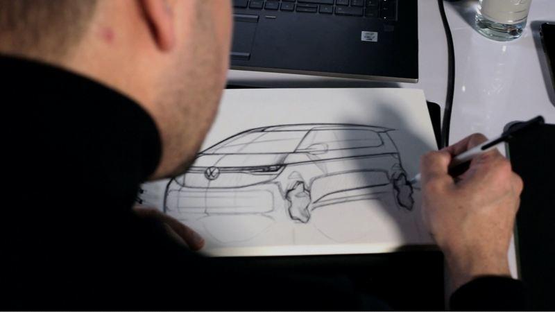 Szkic projektu Nowego Volkswagena Multivana