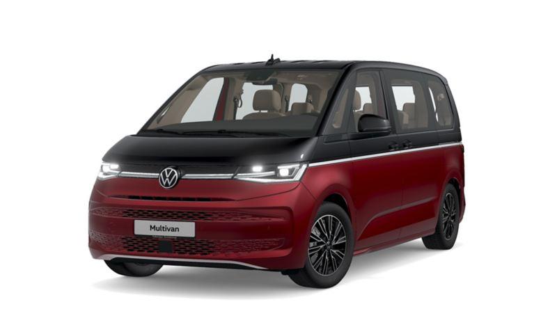 Der VW Multivan Style von schräg vorne.