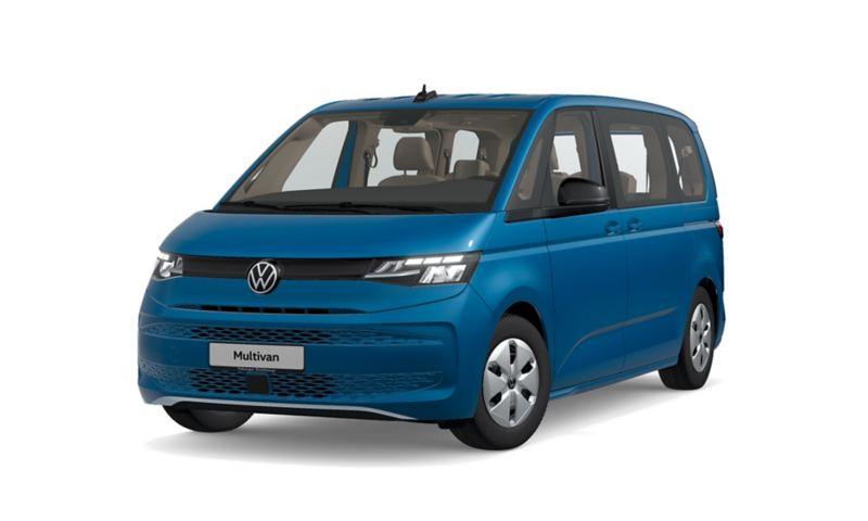 Der VW Multivan von schräg vorne.