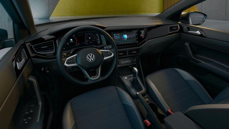 Interior de Nuevo Nivus de VW, con Wireless App Connect