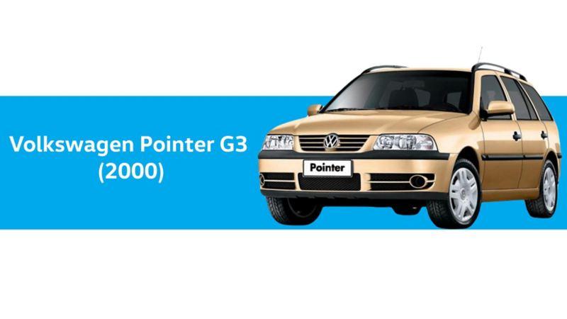 Volkswagen Pointer G3, año 2000 en color dorado