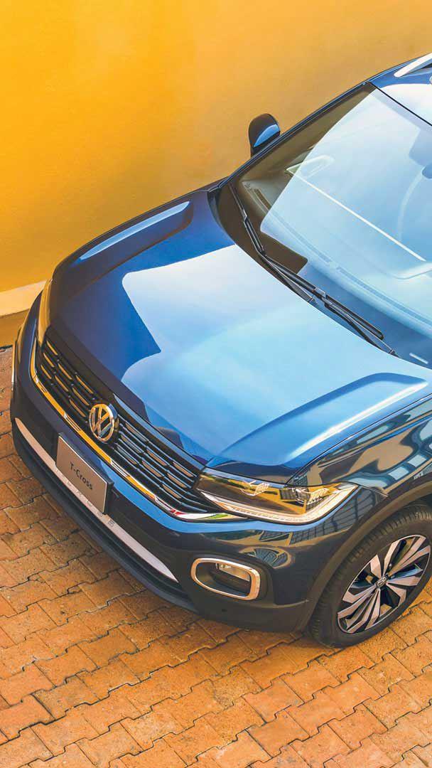 Vista cenital de T-Cross, SUV compacto y seguro