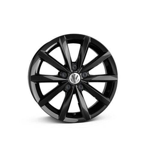 Rines de aluminio de 15'' en color negro equipados en Polo 2021 de Volkswagen