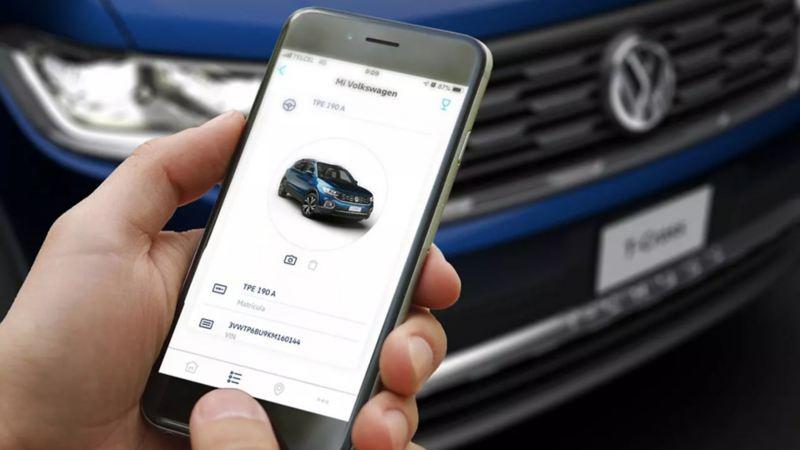 App We Connect Go mostrando información del vehículo