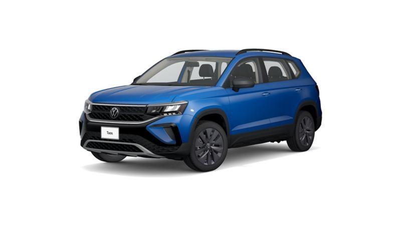 Imagen exterior de Nuevo Taos 2021, SUV VW en color azul