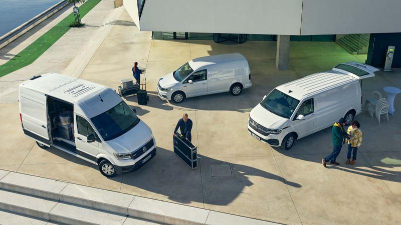 Vita VW Transporter, VW Caddy och VW Crafter