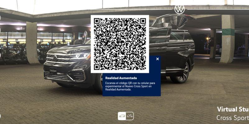 Código QR para ver camioneta CrossSport en realidad aumentada