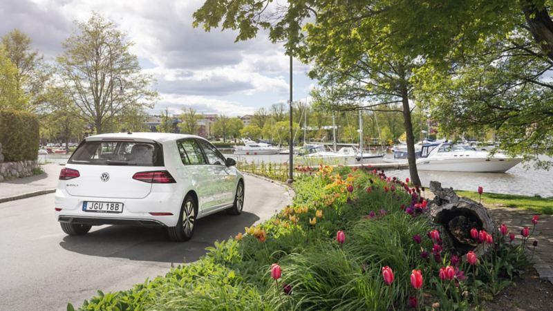 VW e-Golf i rörelse