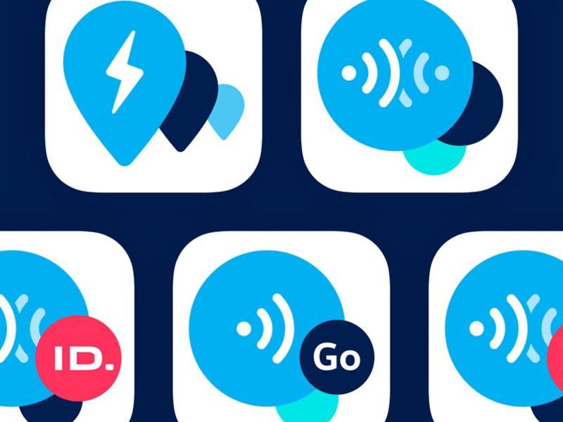Symbolbild mit Logos unterschiedlicher Volkswagen Apps