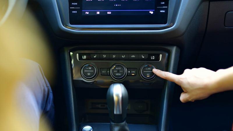 Climatizador triptonic de Volkswagen, ideal para modular la temperatura en tu auto